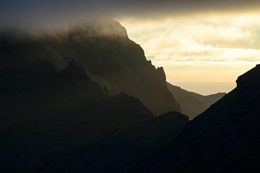paysage volcanique sur les Îles Féroé