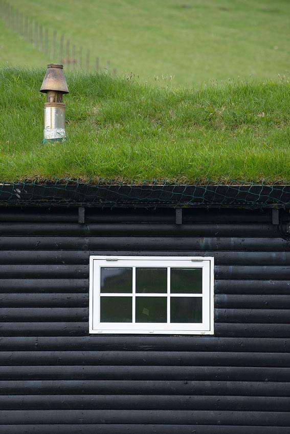 maison toit végétal aux iles féroé