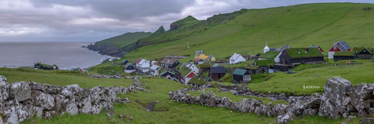 village traditionnel des iles féroé , Mykines