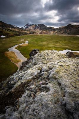 paysage le long du trek du Laugavegur dans le Landmannalaugar