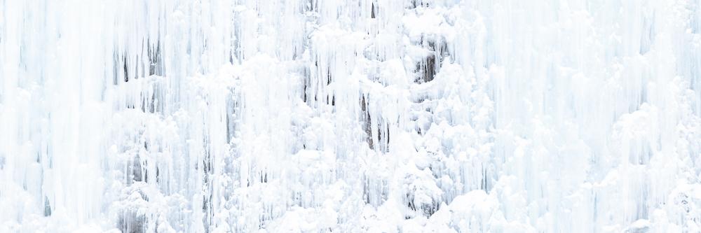 détails d'une cascade de glace en Norvège pres de Tromso