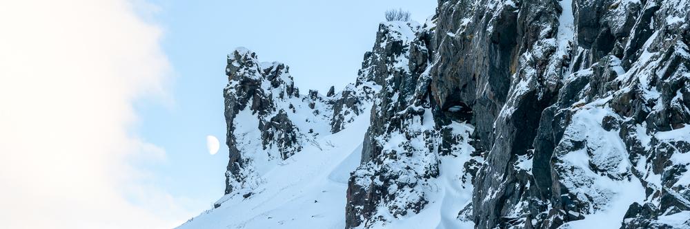 paysage de la norvège en hiver dans les Alpes de Lyngen