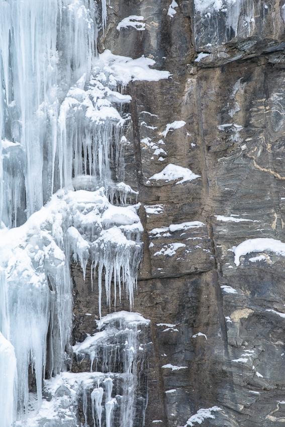détails de glace en hiver en Norvège