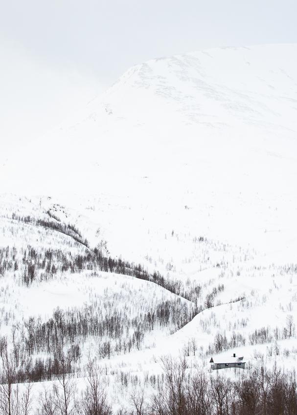 refuge de Fastdalshytta en norvège dans les alpes de Lyngen