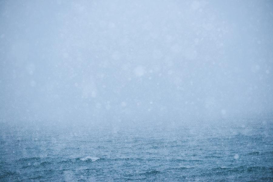 tempête de neige en Norvège près de Tromso