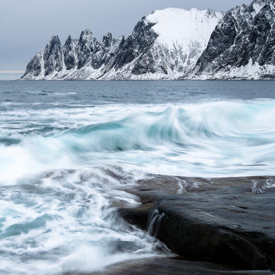 hiver en Norvège au dessus du cercle arctique.