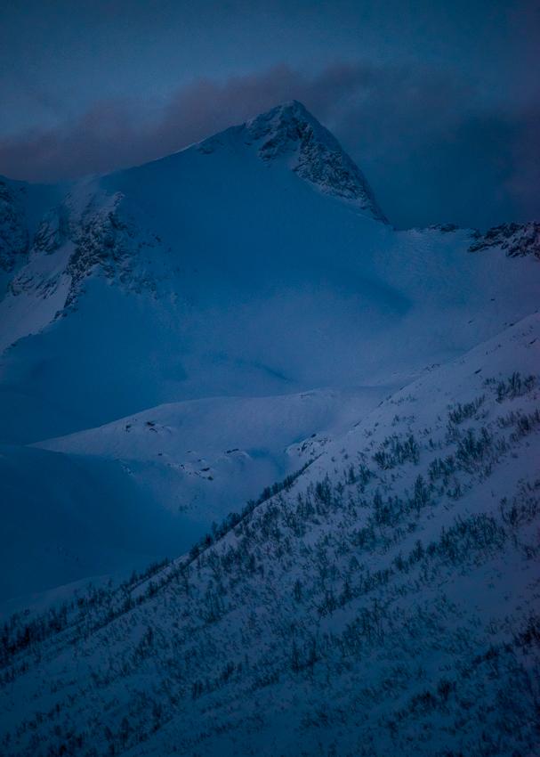 le sommet du Grytetippen en hiver