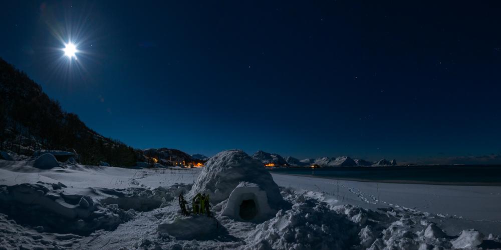 nuit en igloo en Norvège